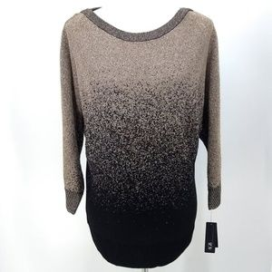 New AGB L Sweater Gold Black Hombre Tunic Length